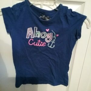 Little girls 6X blue shirt